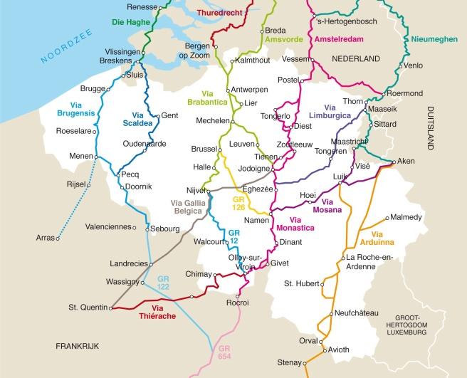 Overzichtskaart routes 2011